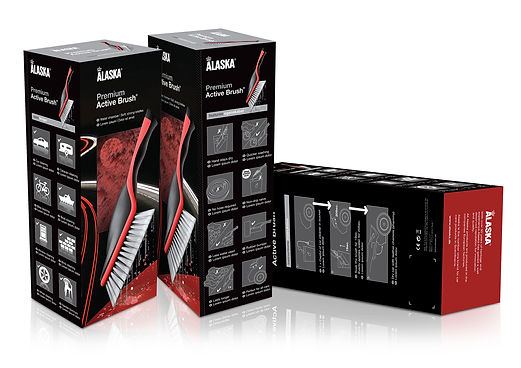 Packaging design for Alaska active brush for Halfords