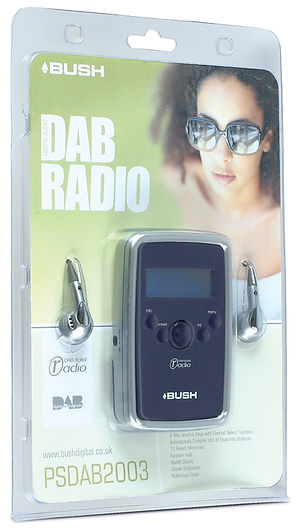 Packaging design for Bush DAB Radio