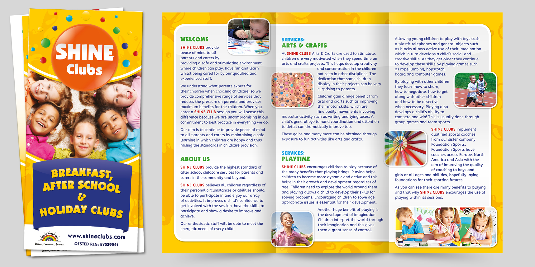 6-page DL leaflet design