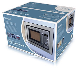 Packaging design for Hinari microwave ovens