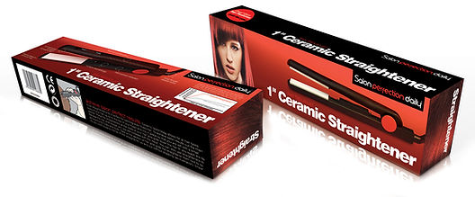 Packaging design for ceramic straightener by Salon Perfection Daily