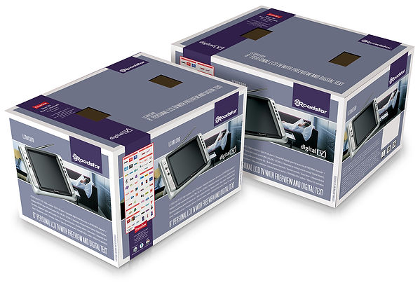 Packaging design for Roadstar LCD TVs