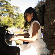 Van-Anh Nguyen at Flower Piano at San Francisco Botanical Garden