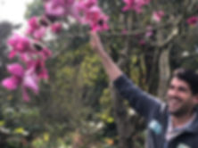 Ryan with Magnolia campbellii Darjeeling