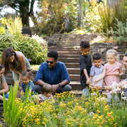 Family enjoying the South Africa garden