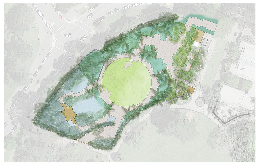 Exhibition Garden Concept Plan no labels
