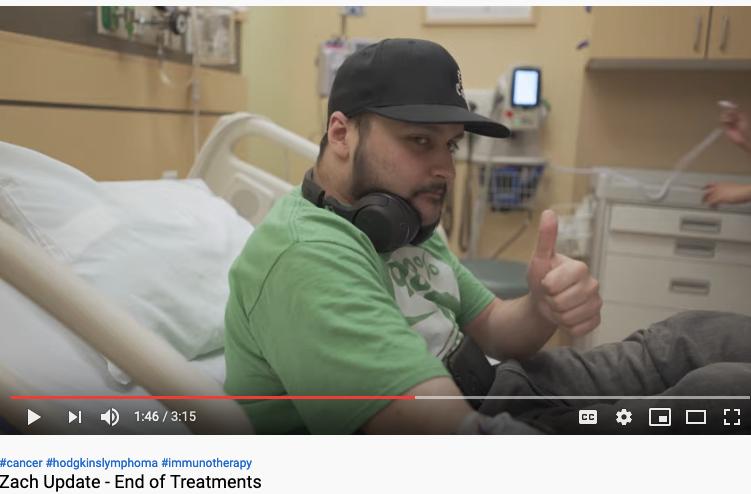 Zach Baltierra Update End of Cancer Treatments