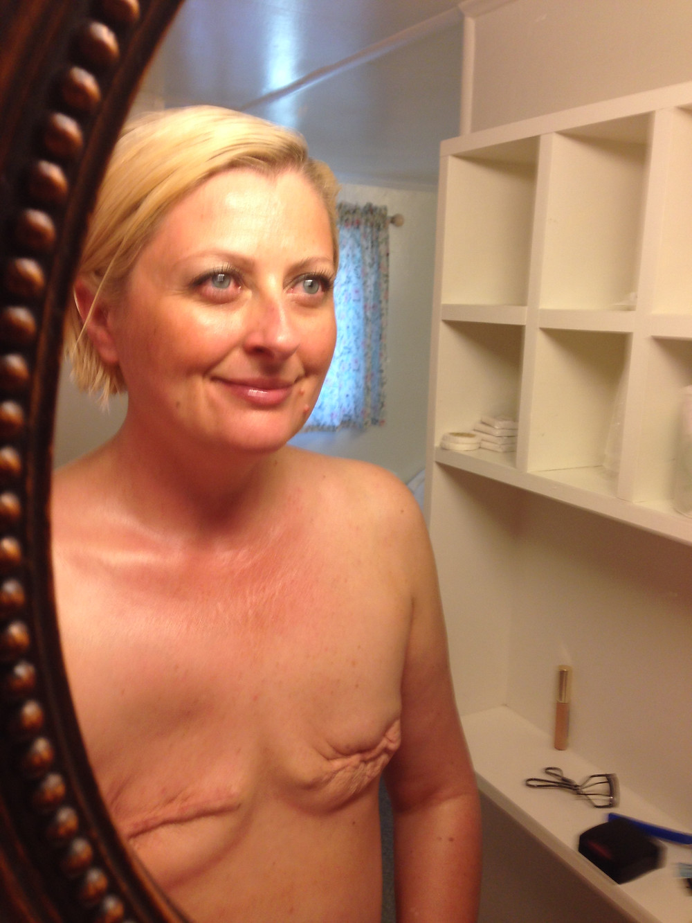 Tammey Grable-Woodford accepting her bilateral modified radical mastectomy