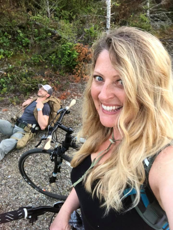 Griff Woodford and Tammey Grable-Woodford mountain biking while healing from breast cancer