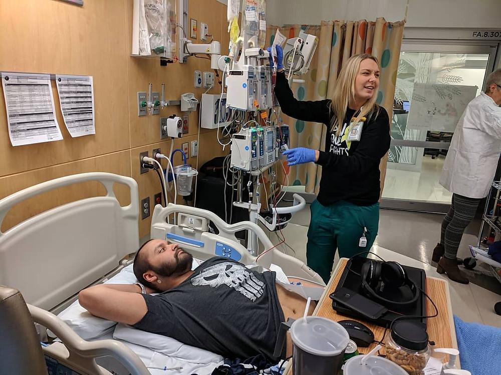 Zach Baltierra at Seattle Children's Hospital - Photo credit Mike Baltierra Photography