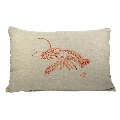 Cuscino in lino Aragosta