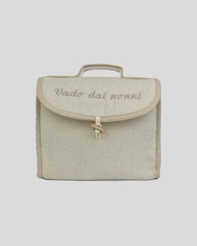 Beauty donna bambino ricamato con le iniziali personalizzato esclusivo made in Italy