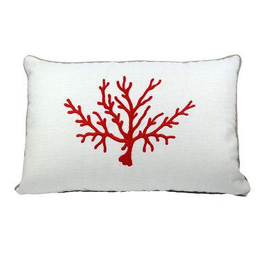 Cuscino in lino Corallo