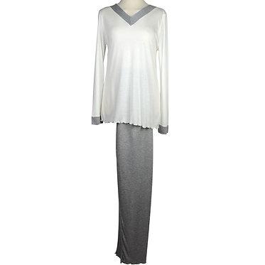 Pigiama da donna in puro micromodal-pigiama da donna di produzione italiana-made in italy