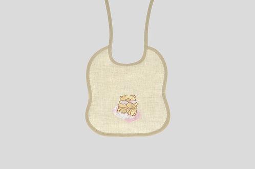 Bavaglio per bambini ricamato con orso online made in italy