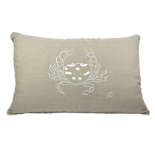 Cuscino in lino Granchio