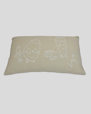 Cuscino personalizzato ricamo disegno