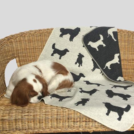 Coperta personalizzata con il nome in cotone anallergico - Cani