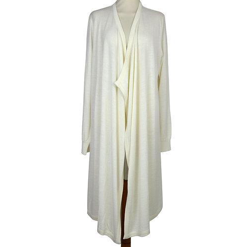 Vestaglia da donna in misto lana anallergica.Vestaglia di produzione toscana. Made in Italy. Colore bianco/panna