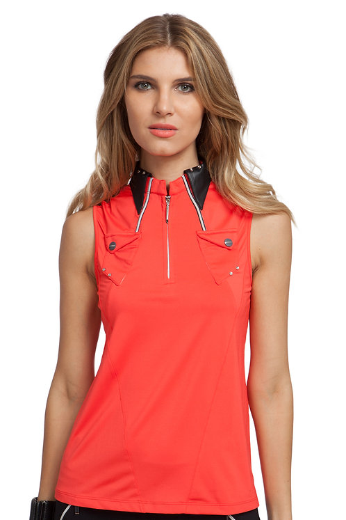 72221-314 SLEEVELESS POLO