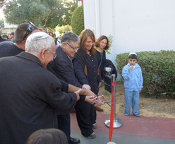 טקס פתיחת גן מוסיקלי עם ראש עיריית יבנה