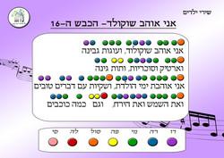 לומדים תווים על פי צבע