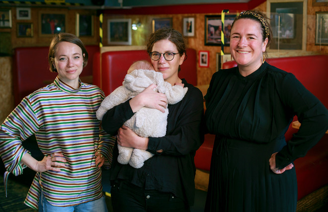 Francesca Moody, Abigail Graham and Morgan Lloyd Malcolm