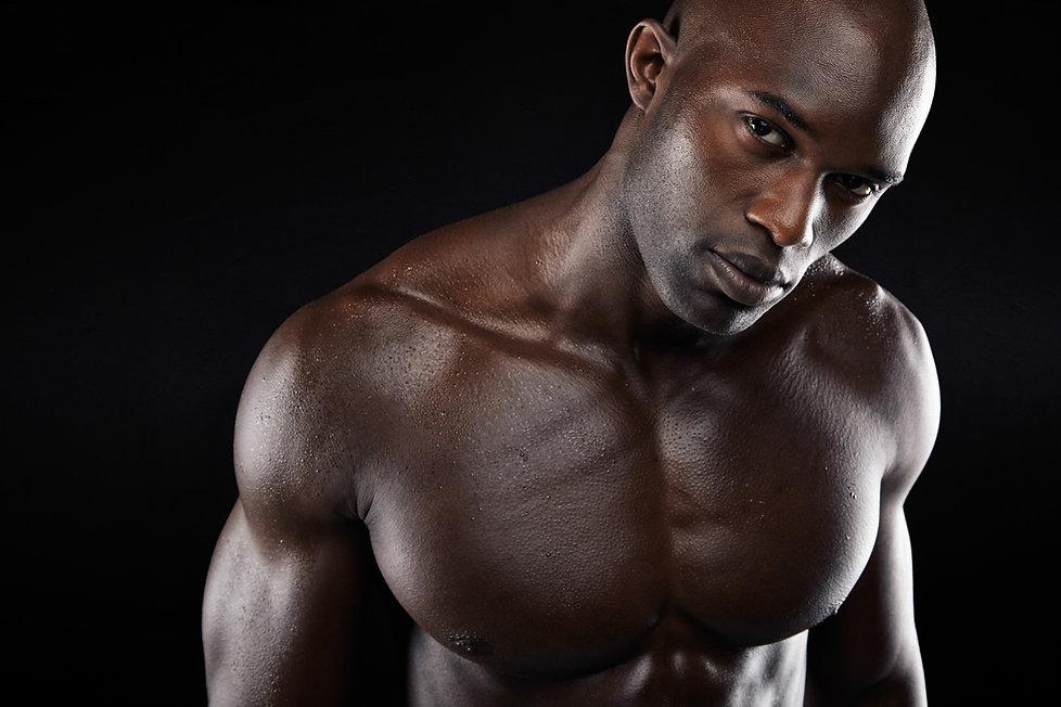 muskulöse Mann