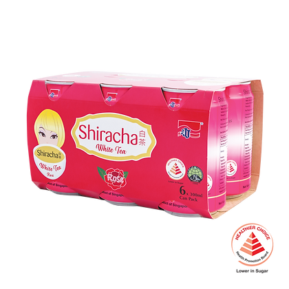 Shiracha White Tea Rose 6 pack