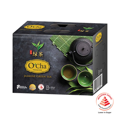O'Cha Premium Jasmine Green Tea - 12 pack