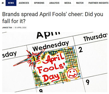"April Fool's Day HERJIAJIA BY JIAJIA"" MEDIA COVERAGE BY MARKETING INTERACTIVE"