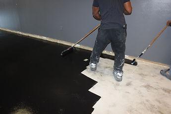 Solvent base epoxy installation