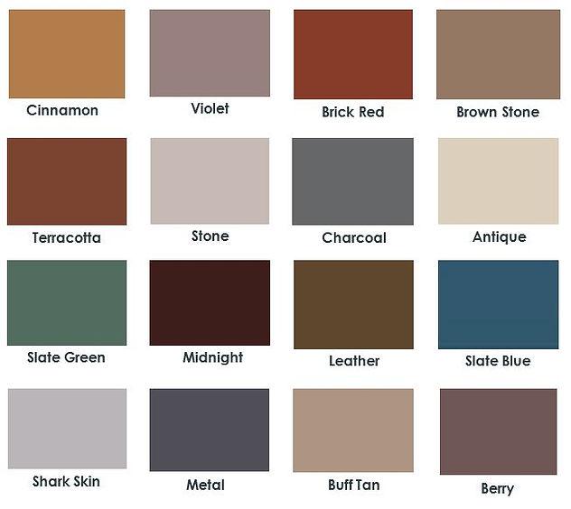 concrete color pigments color chart