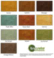 acid based stain color chart