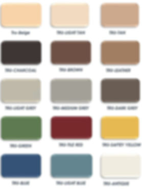 Solvent base epoxy color chart