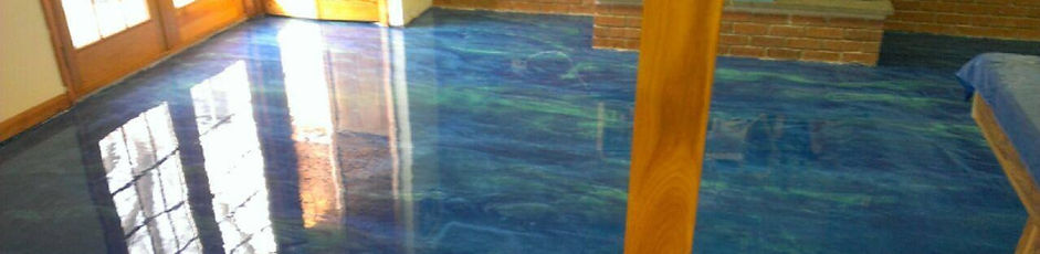 Solvent base epoxy installation