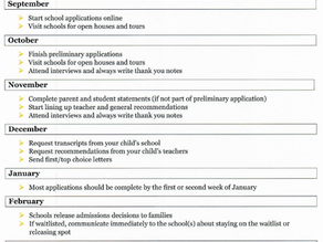 Independent School Application Process
