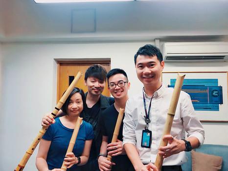2018 9月 千鳥氏與他的尺八學生。