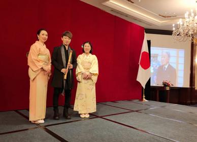 201812月  應駐香港日本國總領事館邀請,參與「日本天皇誕生日慶祝酒會」,與日本箏於港島香格里拉酒店現場演奏多首日本傳統音樂。