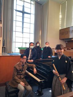 2021 1月 參與由中文大學崇基禮拜堂主辦的「Midday Oasis」音樂會,與作曲家鄭汝森一起演奏了久石讓先生和陳百強先生的作品,還有尺八古典本曲。