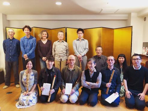 2019 4月 於東京杉並區參與尺八大師福田輝久舉辦之音樂會。