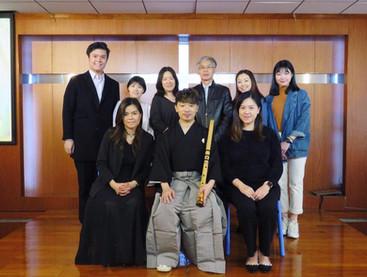 2019 3月 應日本國駐港總領事館邀請,在澳門培正中學及澳門旅遊學院作尺八演奏及日本傳統音樂演講。