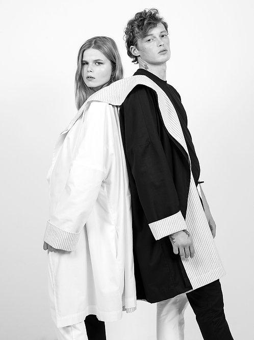 Kimono Black and White Coat