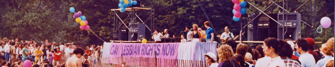 LINA KOUTRAKOS BAND at Central Park 1982 gay pride run