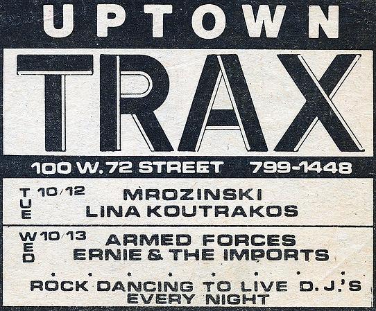 TRAX 100 WEST 72 STREET 1982