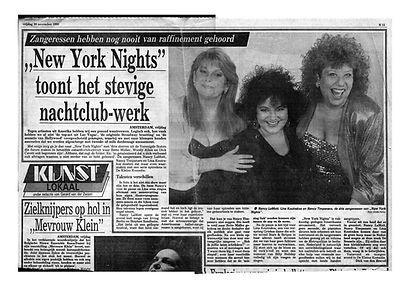LINA KOUTRAKOS , NANCY LAMOTT & NANCY TIMPANARO at DE KLEINE KOMEDIE 1990