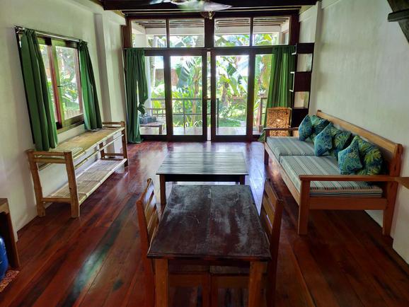 Living room and sofa bed Villa 2