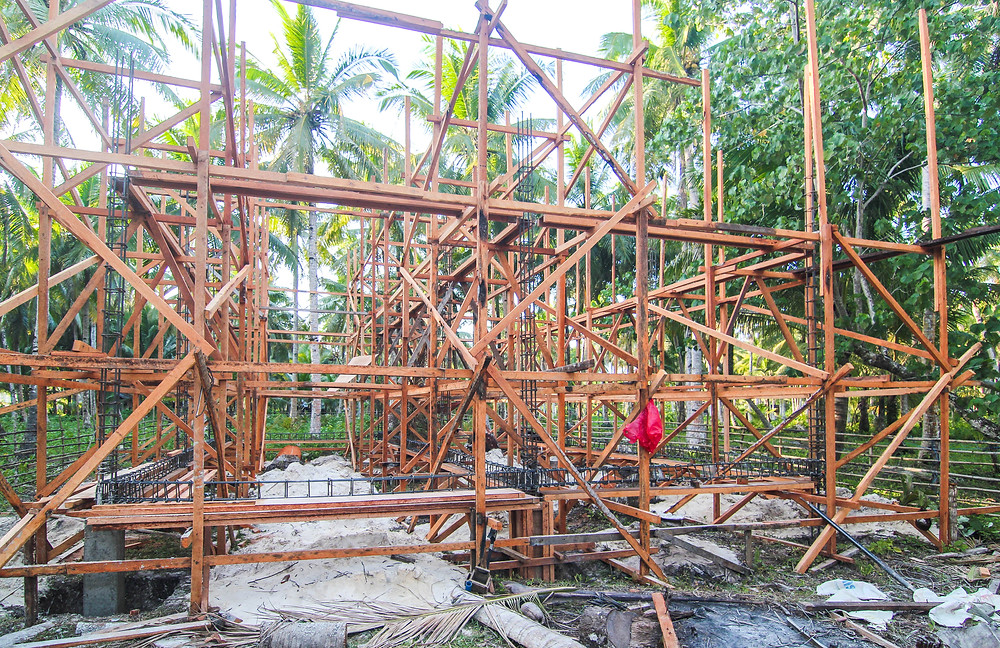 Construction of Surfing Carabao Beach houses