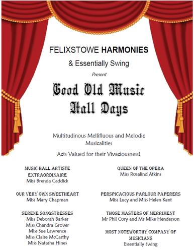 Felixstowe Harmonies Good Old Music Hall