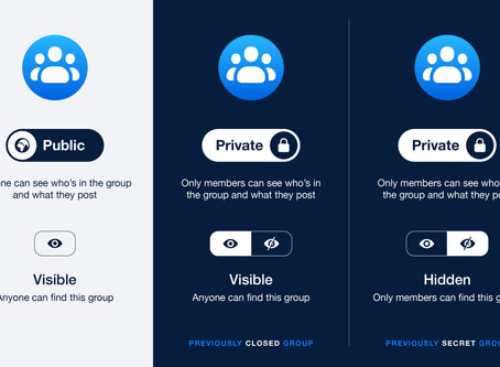 Facebook Has Changed The Privacy Model For Groups, You Only Have 2 Options Now.